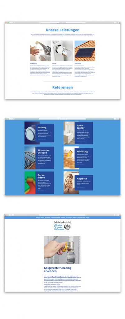 SHK Homepage Beispiel